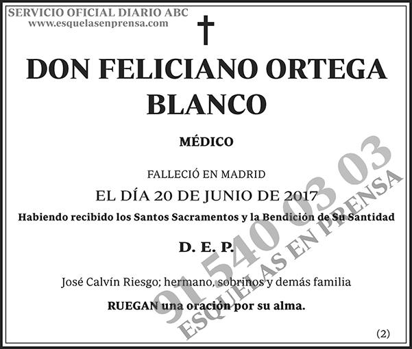 Feliciano Ortega Blanco